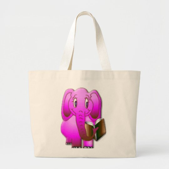 Smarter Elephant Large Tote Bag