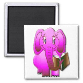 Smarter Elephant Square Magnet