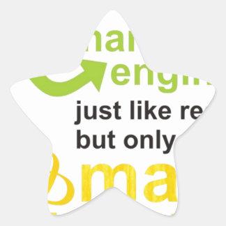 smarter star sticker