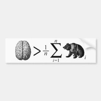 Smarter Than The Average Bear Bumper Sticker