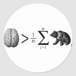 Smarter Than The Average Bear Round Sticker