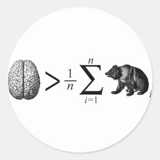 Smarter Than The Average Bear Round Sticker