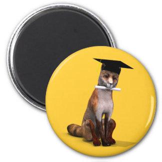 Smartest Fox Of Campus 6 Cm Round Magnet