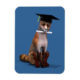 Smartest Fox Of Campus Rectangular Photo Magnet