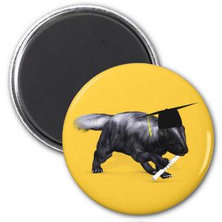 Smartest Skunk Of Campus 6 Cm Round Magnet