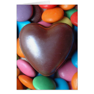 Smartie heart greeting card