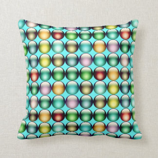 Smarties aqua American MoJo Pillow Throw Cushions