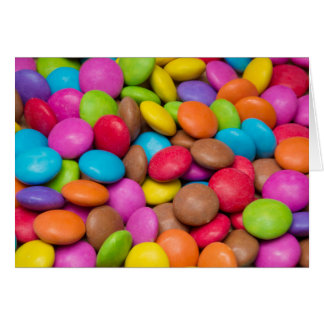 Smarties Candy background Card
