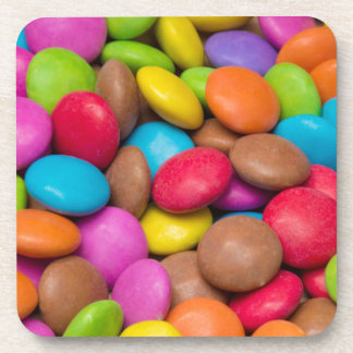 Smarties Candy background Coasters