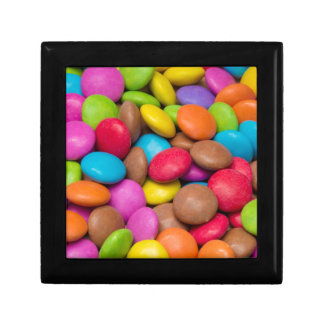 Smarties Candy background Gift Box