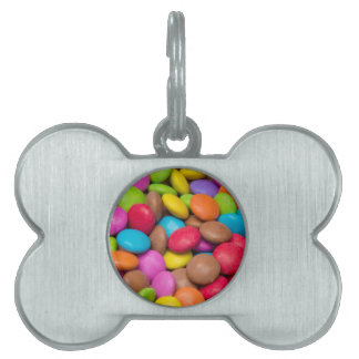 Smarties Candy background Pet ID Tag