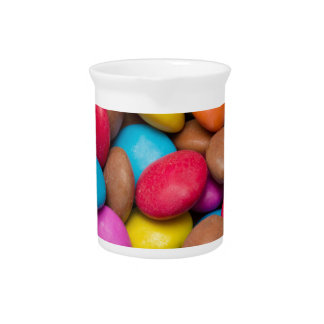 Smarties Candy background Pitcher