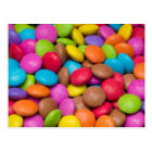Smarties Candy background Postcard