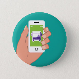 Smartphone application Bus service Online 6 Cm Round Badge