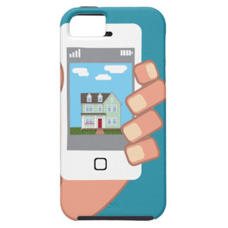 Smartphone in hand with house picture iPhone 5 case