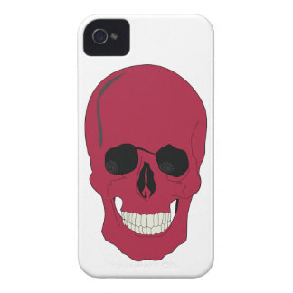 Smartphone red skull design iPhone 4 cover