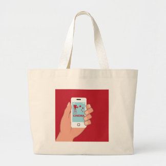 Smartphone vector Cinema App Jumbo Tote Bag