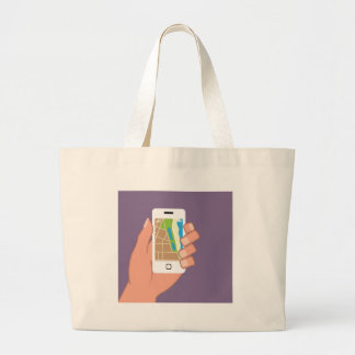Smartphone with a map App Jumbo Tote Bag