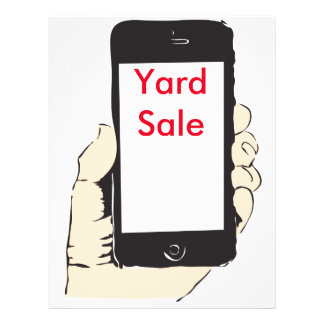 "Smartphone yard sale 8.5"" x 11"" flyer"