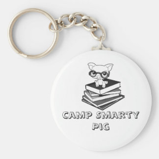 smartypig, Camp Smarty Pig Basic Round Button Key Ring