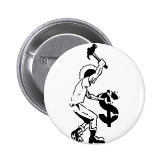 Smash Capitalism 6 Cm Round Badge