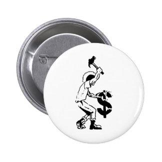 Smash Capitalism 6 Cm Round Badge