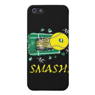 smash tennis ball ripping thru case for iPhone 5