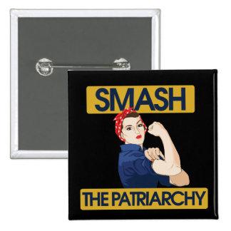 Smash the Patriarchy 15 Cm Square Badge