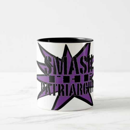 Smash the patriarchy Two-Tone coffee mug