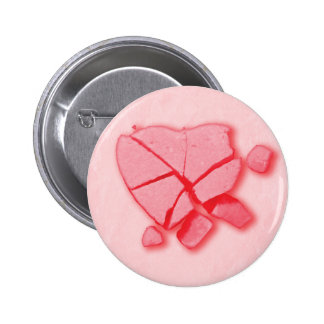 Smashed Candy Heart 6 Cm Round Badge