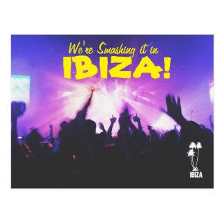Smashing it in Ibiza postcard