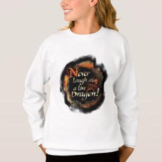 SMAUG™ - Never Laugh Logo Graphic Sweatshirt