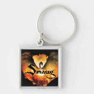 SMAUG™ Over Laketown Silver-Colored Square Key Ring