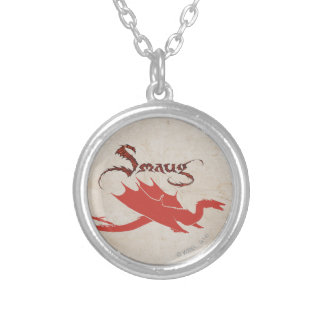 SMAUG™ Silhouette & Name Silver Plated Necklace