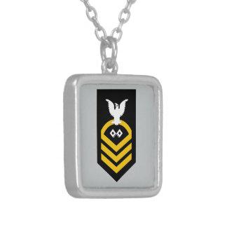 SMC Chief Petty Officer Signalman Square Pendant Necklace