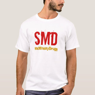 SMD-Red logo Gold Title T-Shirt