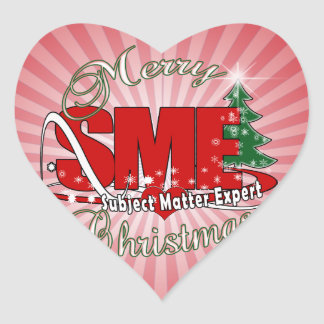 SME CHRISTMAS Subject Matter Expert Heart Sticker