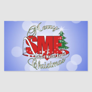 SME CHRISTMAS Subject Matter Expert Rectangular Sticker