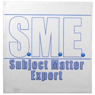 SME  LOGO SUBJECT MATTER EXPERT WHITE/BLUE PRINTED NAPKIN
