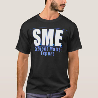 SME  LOGO SUBJECT MATTER EXPERT WHITE/BLUE T-Shirt