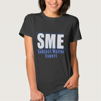 SME  LOGO SUBJECT MATTER EXPERT WHITE/BLUE TSHIRTS