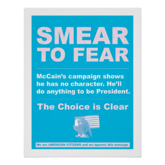 Smear to Fear Poster