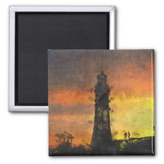 Smeaton s Tower at Sunset Fridge Magnets