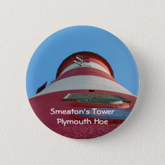 Smeaton's Tower Lighthouse, Plymouth Hoe 6 Cm Round Badge