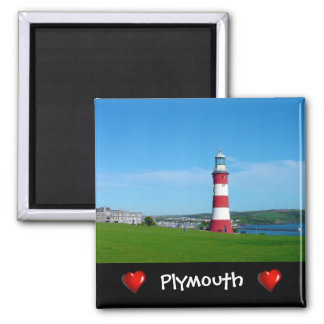 Smeaton's Tower, Plymouth Hoe Square Magnet