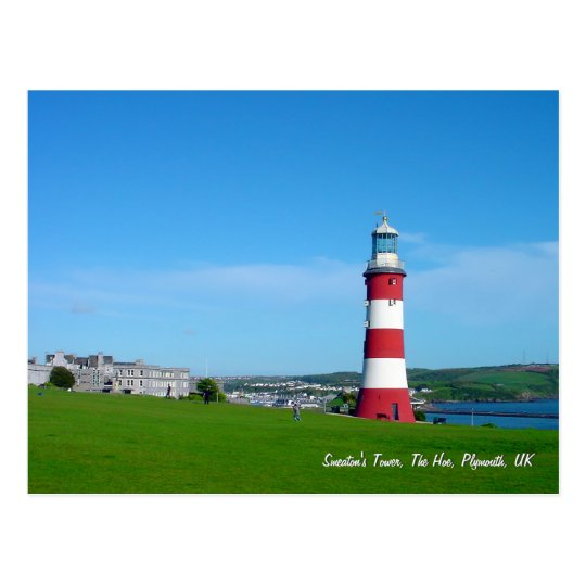Smeatons Tower, The Hoe, Plymouth Postcard