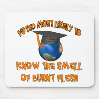 Smell Burnt Flesh Mouse Pads
