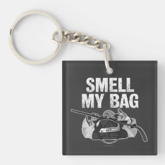 Smell My Bag (Hockey Stench) Double-Sided Square Acrylic Key Ring