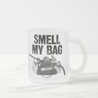Smell My Bag (Hockey Stench) Frosted Glass Mug
