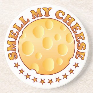 Smell My Cheese Brown Coasters